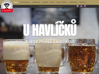 Restaurace U Havlíčků spouští nový web!