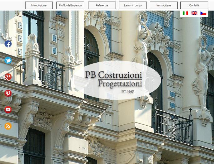 Výroba webových stránek www.pbcostruzioni.com