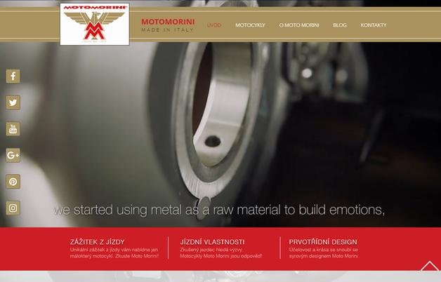 Tvorba webových stránek pro českého dealera italského výrobce tradičních motocyklů