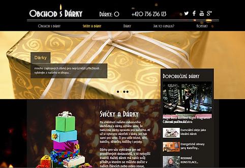 Tvorba webových stránek www.obchod-s-darky.com