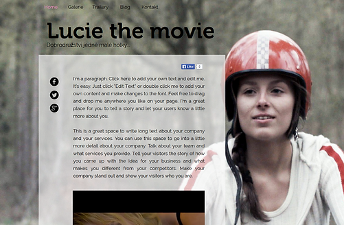 Výroba webových stránek Luciethemovie