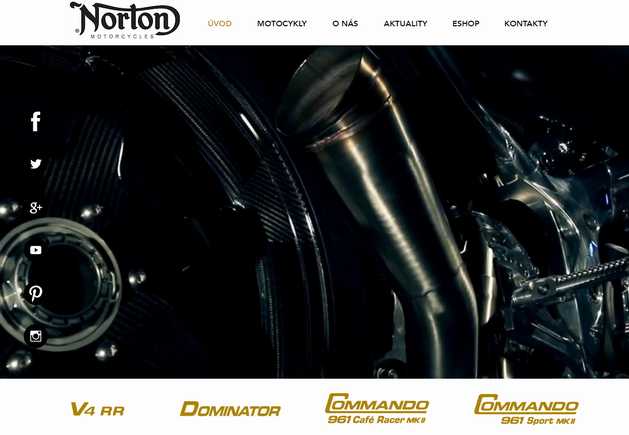 Výroba www stránek pro českého dealera anglického výrobce závodních motocyklů