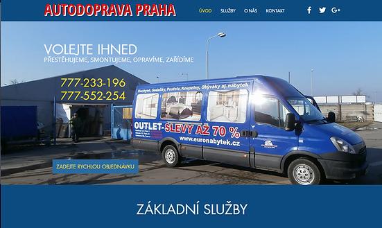 Výroba webových stránek pro spediční společnost Autodoprava Praha