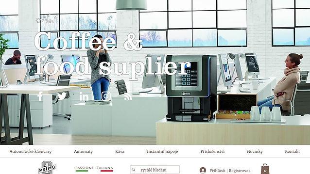 Výroba www stránek pro italského dodavatele Primo a.s.