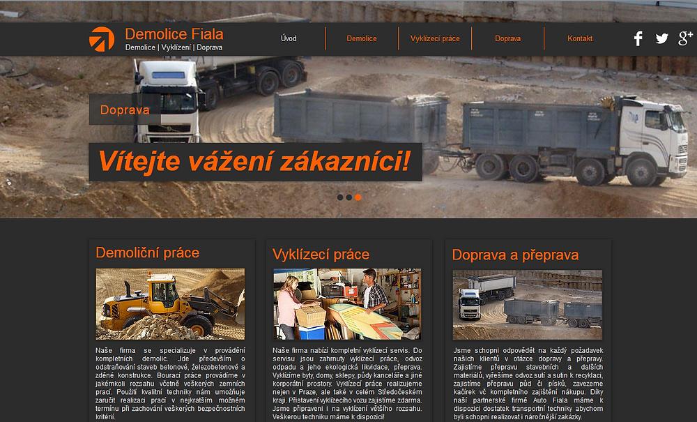 Výroba webových stránek www.demolice.biz