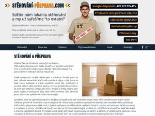 Výroba webových stránek www.stehovani-preprava.com