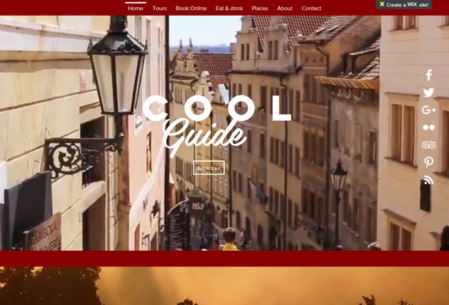 Tvorba www stránek pro kancelář turistického průvodce