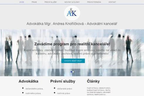 Tvorba www stránek AK Mgr.Knoflíčková