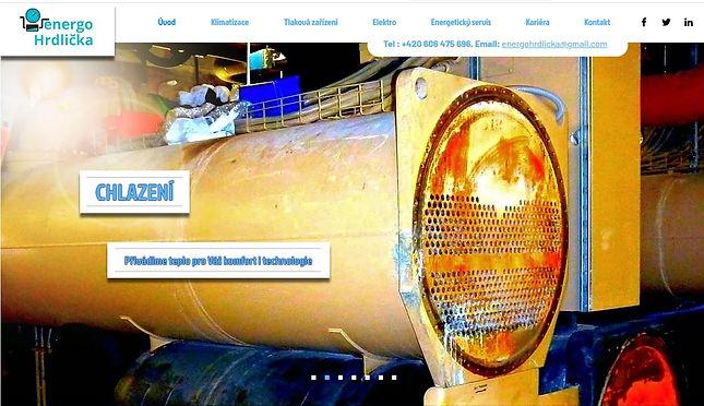 Energo Hrdlička - Výroba webových stránek