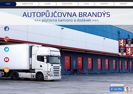 Výroba webových stránek pro Autopůjčovnu Brandýs