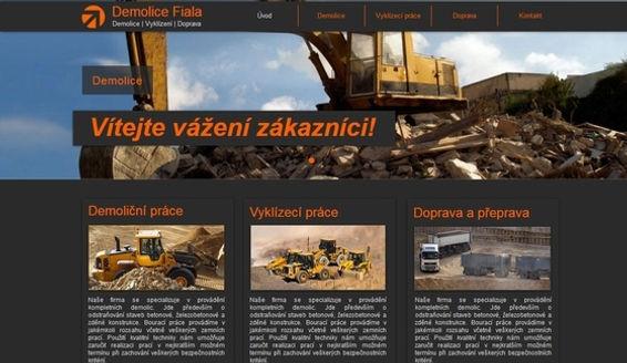 Tvorba webových stránek www.demolice.biz