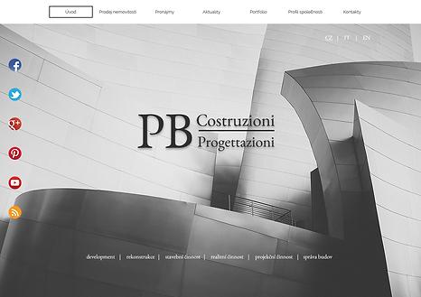 Výroba webových stránek PB Costruzioni