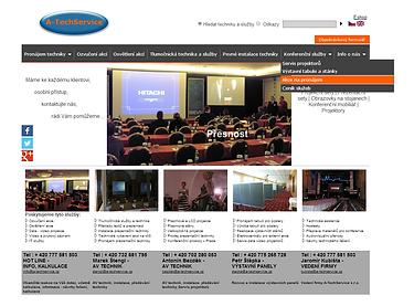Redesign webových stránek www.a-techservice.cz