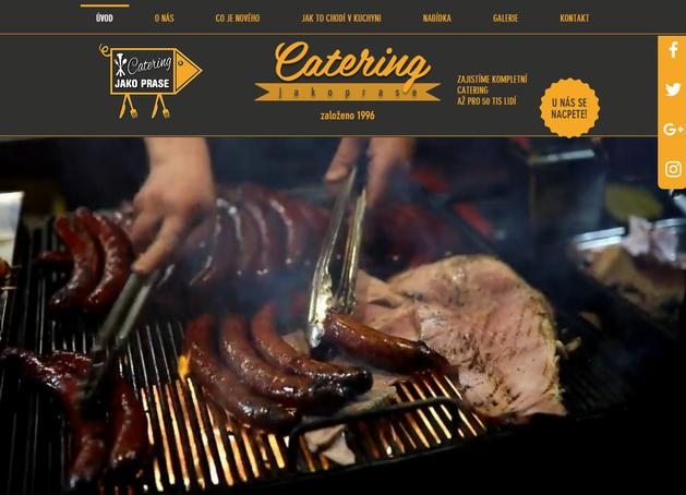 Výroba webových stránek pro českou cateringovou firmu zaměřující se na stánkový prodej potravin