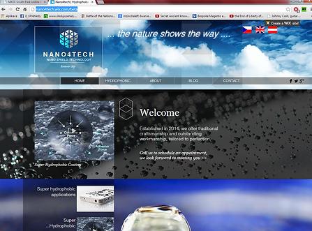 Výroba webových stránek www.nano4tech.com