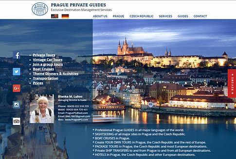 Výroba webových stránek Prague Private Guides