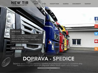 Projekt NewTir Transport dokončen