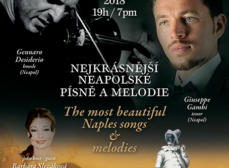 Concert: The most beautiful Neapolitan songs and melodies in Rudolfinum in 2018
