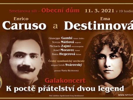 Koncert 11. 3. 2021: Caruso a Destinnová