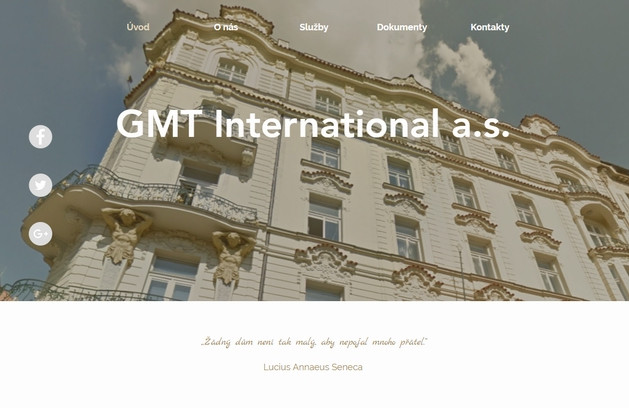 Výroba webových stránek GMT international a.s.