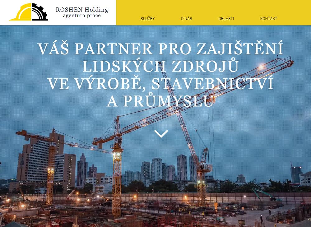 Výroba internetových stránek pro incomingovou pracovní agenturu