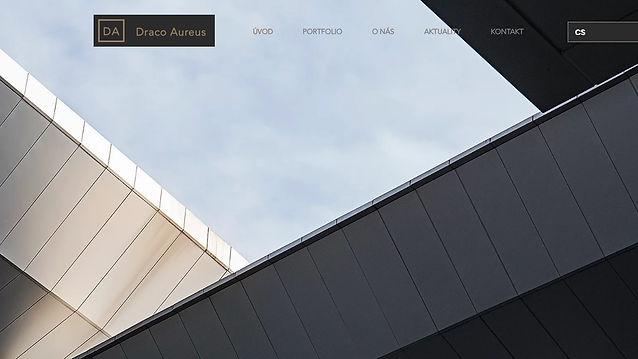 Výroba www stránek pro investiční společnos Draco Aureus