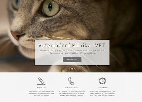Výroba webových stránek Veterinární kliniky IVET