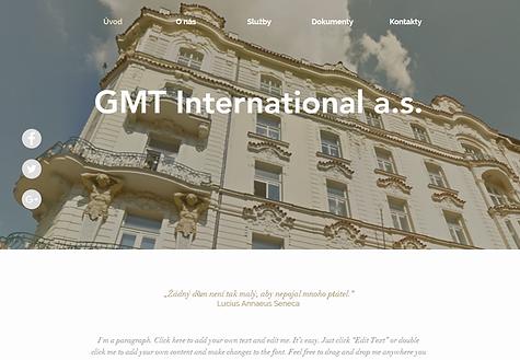 Výroba webových stránek pro společnost GMT International a.s.