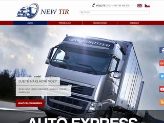Výroba www stránek NEW Tir dokončena