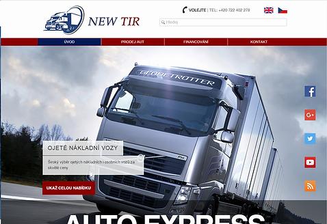 Výroba webových stránek NEW TIR
