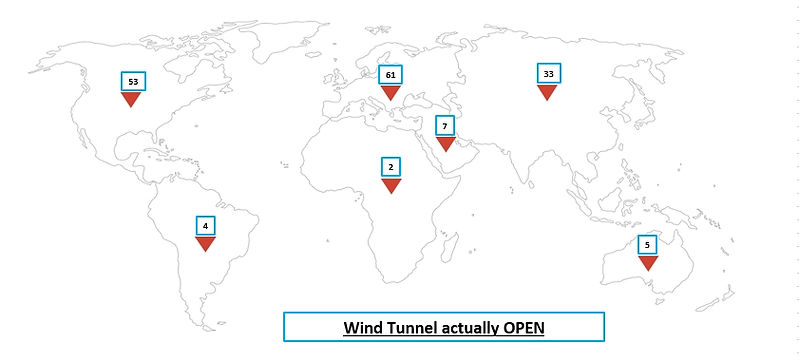 wind tunnel worldwide all size - open at