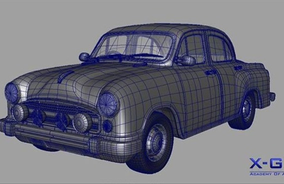 A Car Digitally painting and showing graphically