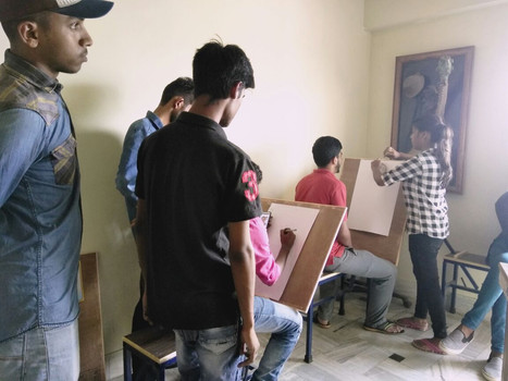 Students at Pratics X-Gen College of Visual Art