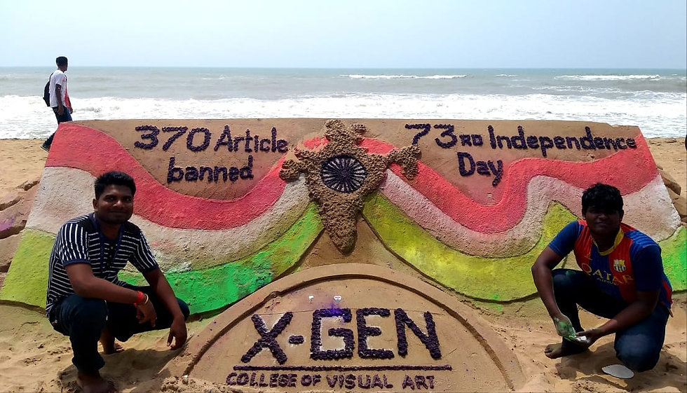 Sand Art By students_ X-Gen College of Visual Art