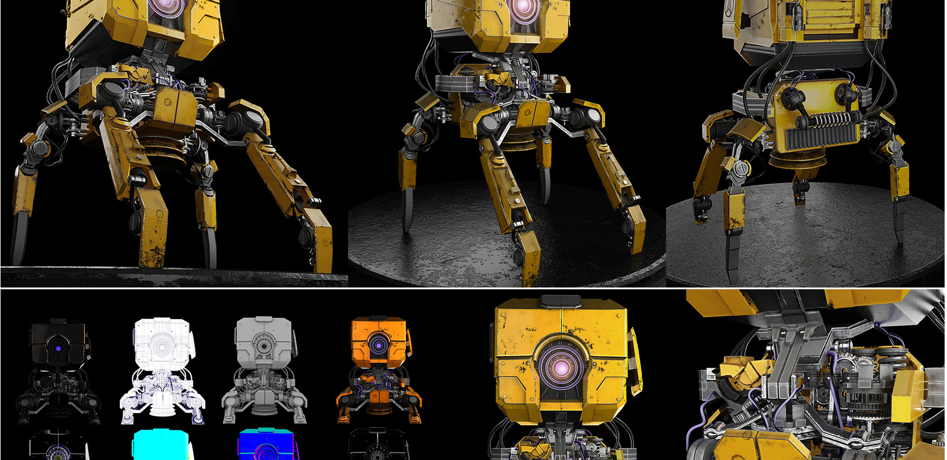 A Robot 3D animative Picture