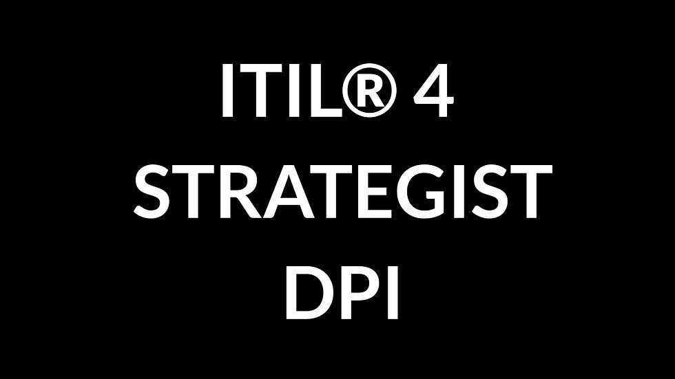 ITIL® 4 Strategist Direct, Plan & Improve - DPI Online (150 Days)