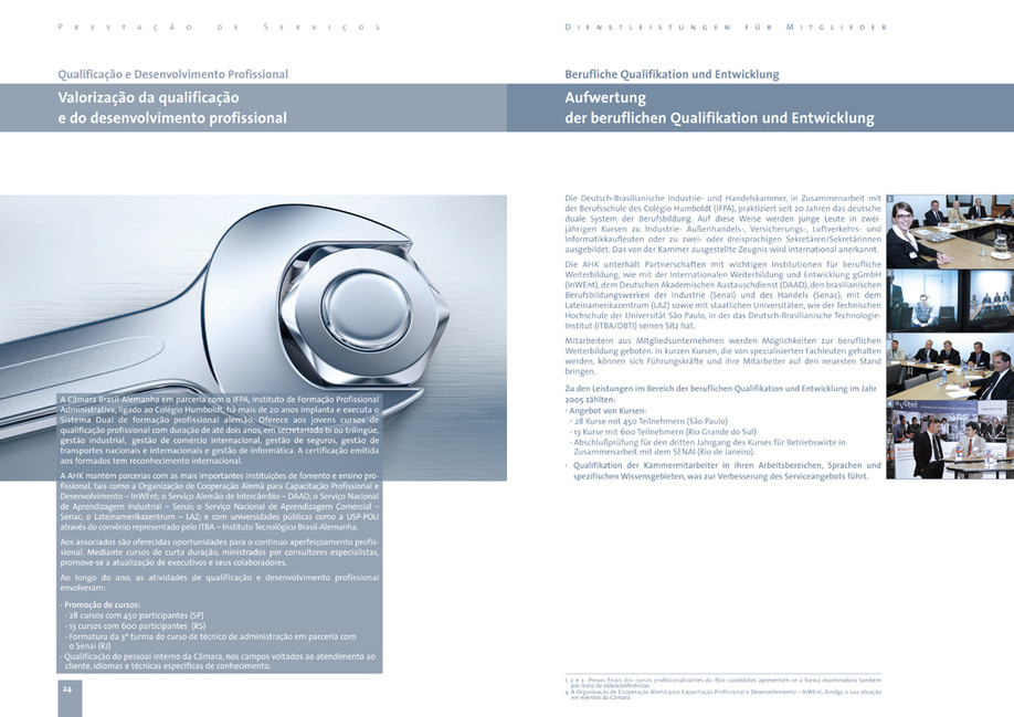 Anual Business Report double page