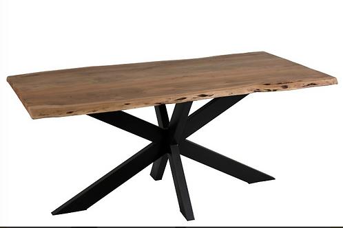 Mesa sala retangular tampo madeira