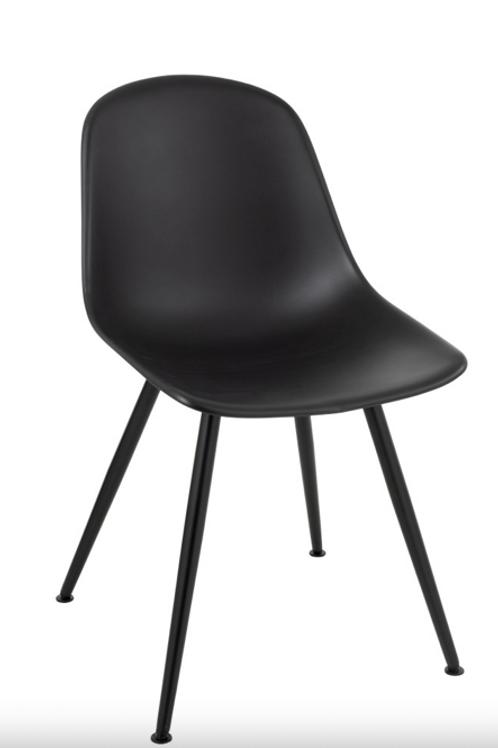 Pack 2 cadeiras Pp preto