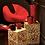 Thumbnail: Conjunto 2 mesas apoio quadradas douradas