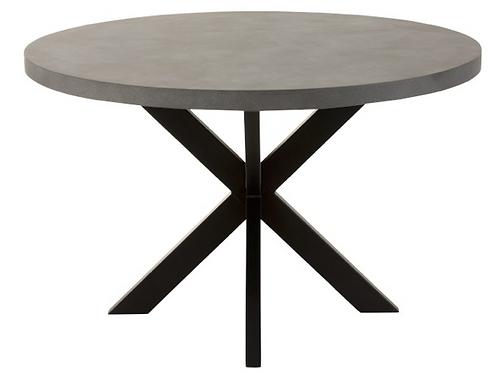 Mesa de sala redonda com tampo a imitar o cimento