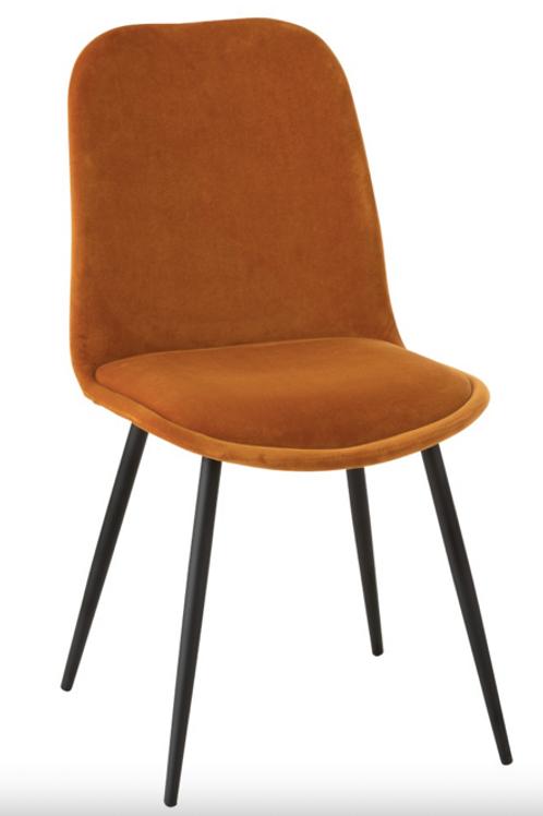 Cadeira pé metálico e tecido
