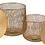 Thumbnail: Conjunto 2 mesas de apoio redondas douradas