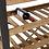 Thumbnail: Estante metálica preta e prateleiras madeira