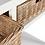 Thumbnail: Consola em madeira branca com 2 gavetas em verga