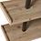 Thumbnail: Estante metálica preta com prateleiras madeira natural