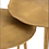 Thumbnail: Conjunto 3 mesas apoio redondas douradas