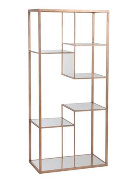 Estante dourada modelo copper