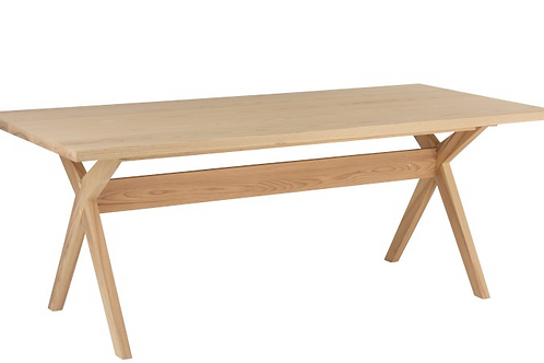 Mesa sala retangular  madeira natural
