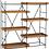 Thumbnail: Estante metálica preta e prateleiras madeira natural
